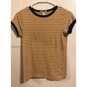 💛Yellow/Blue Striped Tee💛